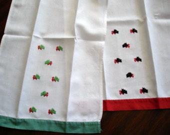 Scottie Dog Linen Guest Towel Set