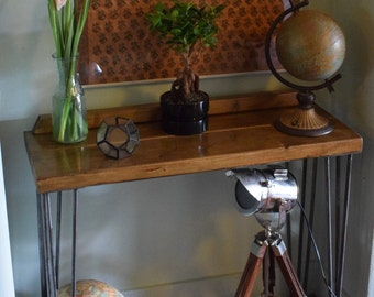 Industrial Console Table Mid Century Modern Style hairpin Table