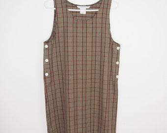 Jonathan Martin Plaid Jumper Dress
