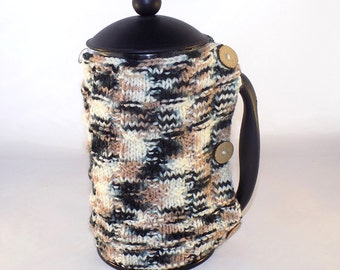 Cafetiere Cosy (Cozy) - Hand Knitted - 2 Colours To Choose From  **SUMMER SALE**