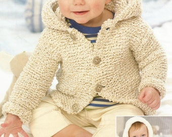 Instant Download  PDF - Easy Chunky Hooded Coat Knitting Pattern (12)