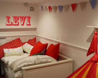 CUSTOM NAME in Circus Font Wall Decal