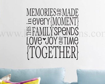 Memories to be Made wall decal