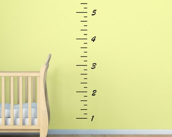 Wall Decals Stickers Height Chart - 6ft  One Piece Wall Large Wall Art Vinyl Decals Vinyl Stickers. Easy Peel Decals