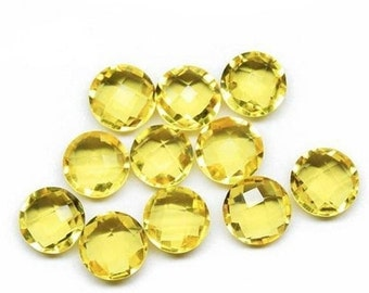 10% OFF AAA Lemon Quarts Hydro Faceted Round Briolette Top Quality 12x12 mm 10 Piece-5 Match Pair
