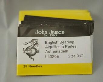 John James Beading Needles # 12  (25)