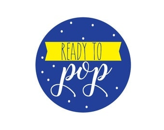 Ready to Pop Printable, Baby Shower, Blue and Yellow, DIY Baby Shower, Decorations, Popcorn, Cupcake Toppers