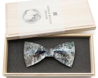 Moon Stone Bowtie - Modern Boys Bowtie, Toddler Bowtie Toddler Bow tie, Groomsmen bow tie, Pre Tied and AdjustableNovioshk, H0201