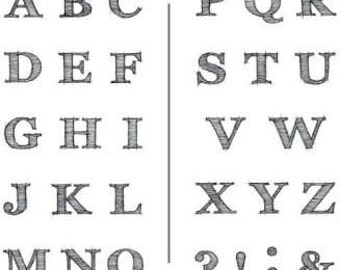 """Inkadinkado """"Sketchy Alphabet"""" - Clear stamps - Letter stamps"""