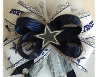 Dallas Cowboys inspired Hairbow