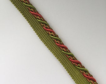 Nectar - Green - Cord - Trim By The Yard - Pillow Edging