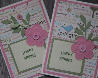 Spring Greeting Card.  Happy Spring Handmade Card.  Spring has sprung greeting card.  Blank spring card. Spring Thank you Card.Easter Card