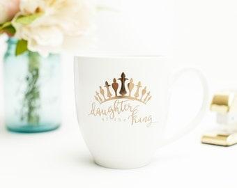 Gold Foil Daughter of the King Mug