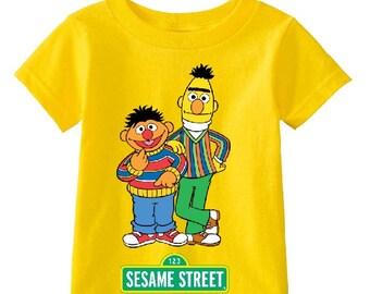 Sesame Street Bert and Erni custom t-shirt (Different Colors)