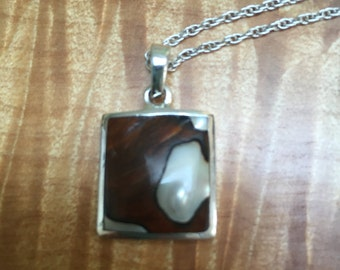 Mother of pearl and sterling necklace