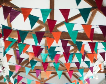 Colourful wedding themed bunting **HIRE**