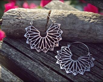 Silver earrings. Tribal Earrings. Ethnic jewelry. Belly Dance jewelry
