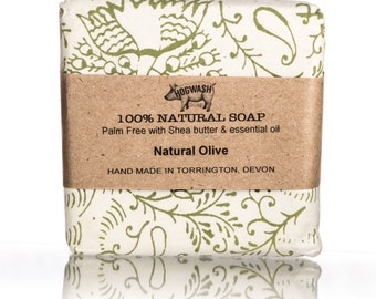 Un -fragranced Natural Soap, Palm oil free, Shea Butter, handmade soap bar, cold process, fragrance free skincare, olive soap,dry skin