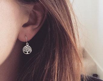 Tree of Life drop earrings Sterling Silver