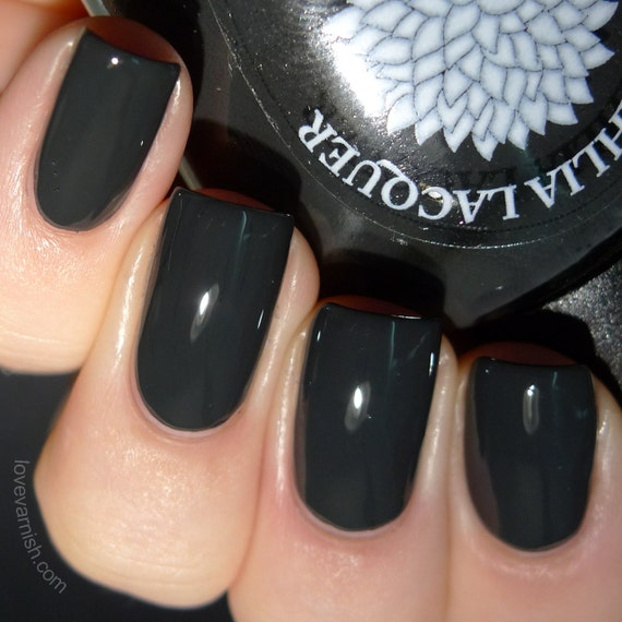 Off Black Nail Polish By Black Dahlia Lacquer Black Iris