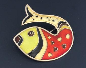 David Andersen Enamel Sterling fish