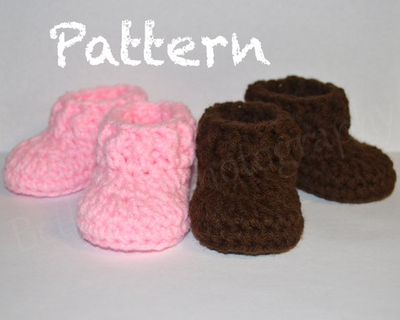 Months Crochet Baby Pattern Easy Booties