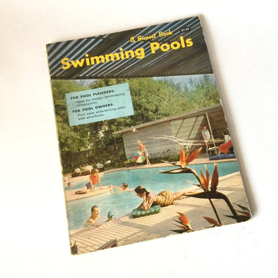 Sunset swimming pools design book 1959 vintage mid century for Pool design book