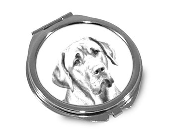 Boholmer - Pocket mirror with the image of a dog.