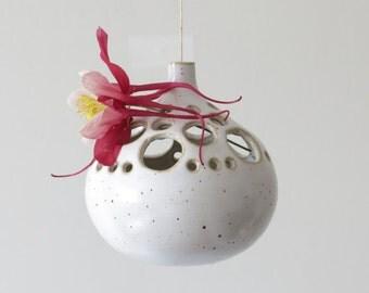 Vintage vase suspended