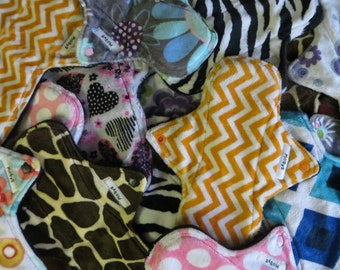 Build Your Own Pad Set - Completete Set, Reusable Pads, Cloth Pads, Mama Pads, Minky Cloth Pads, Overnight Pads