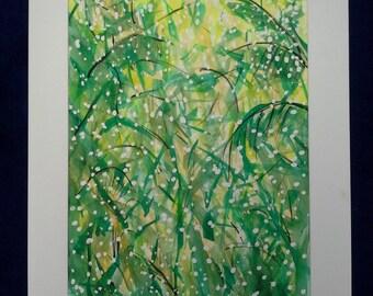 Beautiful Bush Foliage Oringinal Watercolour Painting