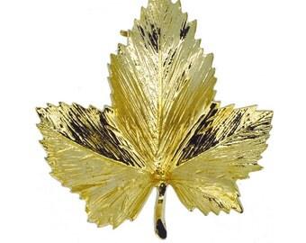 Gold Maple Leaf Brooch