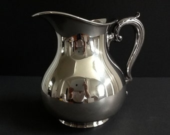Mid Century Wallace Silver Plate Water Pitcher, Wallace 999 Pitcher