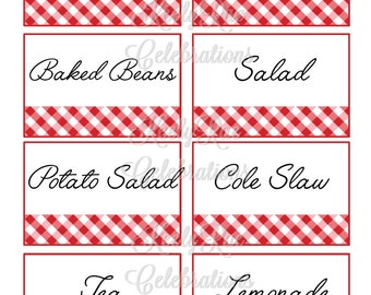 BBQ Food Labels