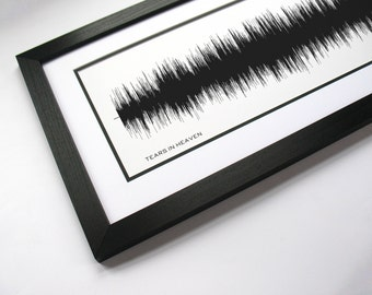 Tears in Heaven - Music Art Sound wave Print - Song Lyric Art, Band Poster
