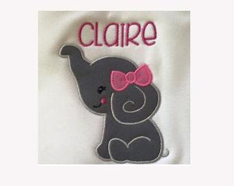 Elephant applique,Elephant design,Elephant embroidery,Elephant design with girl,Girl applique,Elephant.-02