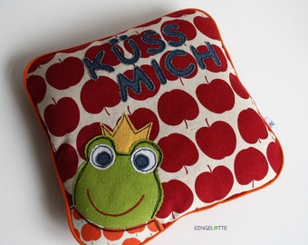 kids room pillow, frog prince pillow, baby pillow, kids pillows, frog Prince pillow, Apple pillow pillows, apple