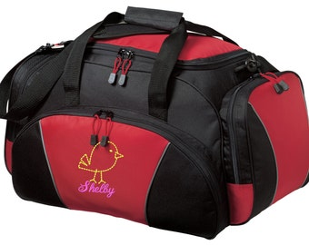 Birdy Gym Bag - Personalized - Monogrammed - Embroidered - Sports Bag - Sports Gift - Bird Duffle Bag - BG91