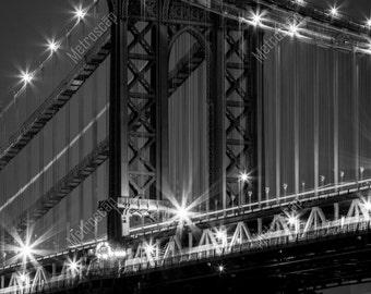Black and White, New York City Photography, Manhattan Bridge, Fine Art Photography, NYC Pictures, Manhattan