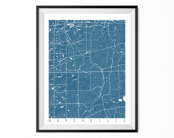 Naperville illinois etsy naperville city map art print naperville poster naperville wall art illinois gift publicscrutiny Images