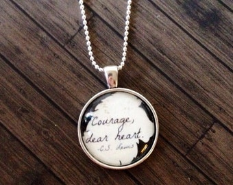 C.S. Lewis Narnia quote necklace
