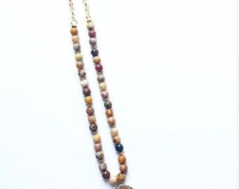 Rainbow Agate on Chain