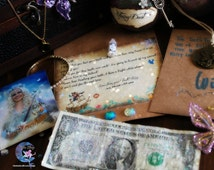 BOY~ Handmade Tooth Fairy letter! with Fairy Money, Coin Pendant, Fairy Dust! (It glows in the dark!) and FREE picture of the Tooth Fairy!!