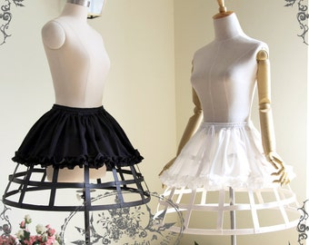 Gothic Steampunk Full Birdcage Steel Boned Petticoat