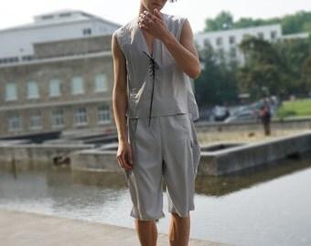 Vintage Silk Shorts Silk Pajamas Shorts Sleepwear Breeches Grey Black Burgundy
