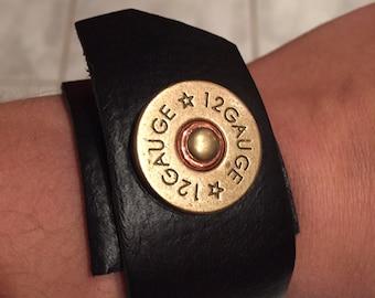 Shotgun-Shell Leather cuff