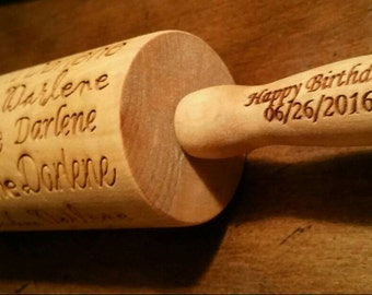 Mulit Font Name Rolling Pin - personalized handles