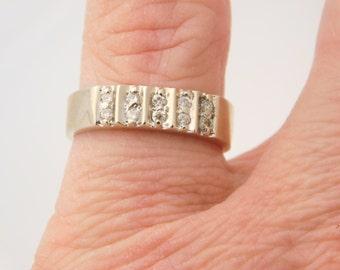 0.25 Carat T.W. Round Cut Diamond Band 14K White Gold Ring