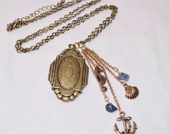 Antiqued Bronze Nautical locket