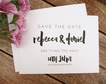 Edna Save the Date Card | Wedding Save the Date Card | Mini Save the Date Card | A6 Card & Envelope | Edna Collection